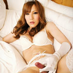 Kumi. Princess Kumi returns to ladyboy Japan and she loves the way her she-cock scepter feels in her warm hands.